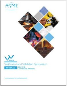 ASME V&V Symposium 2015 Program